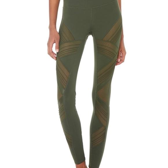 45b8b8f355e67 ALO Yoga Pants | Nwt Alo Ultimate High Waist Legging Hunter Green ...